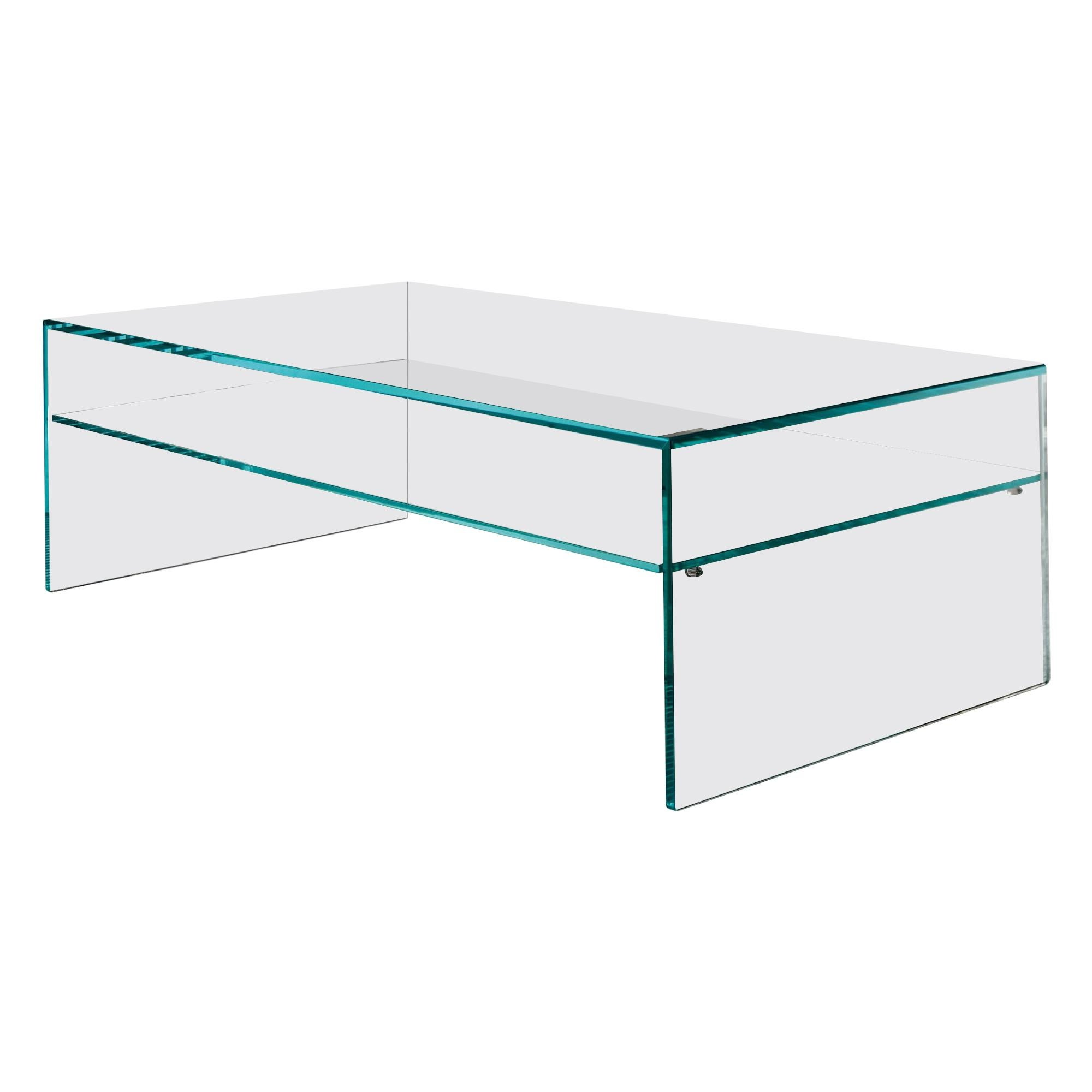 Fratina Glass Coffee Table, Designed by M.U, Made in Italy
