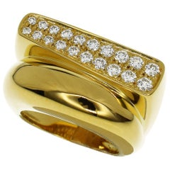 Fred 0.65 Carat Diamond 18 Karat Yellow Gold Success Ring Medium Model