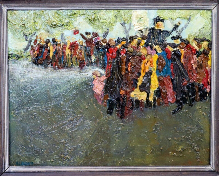 For your consideration is a framed and signed, oil on board painting,