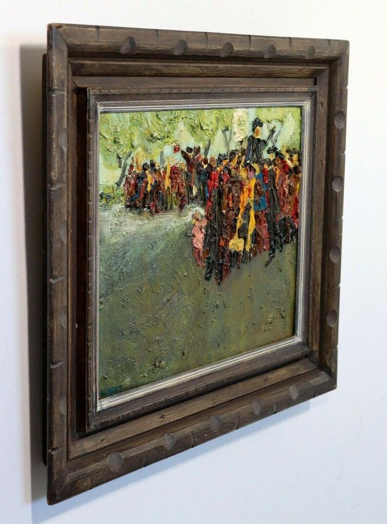 Oiled Fred Albert Signed Hyde Park Framed Oil on Board For Sale