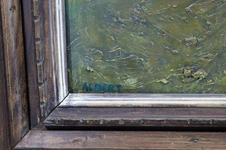 Fred Albert Signed Hyde Park Framed Oil on Board For Sale 1