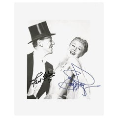 Fred Astaire and Ginger Rogers Signed Black and White Photograph, 20th Century