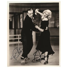 Fred Astaire and Ginger Rogers Vintage Signed Photograph Black and White