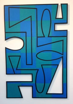 """La Mer"" pairs sharp geometries with sea blues and greens"