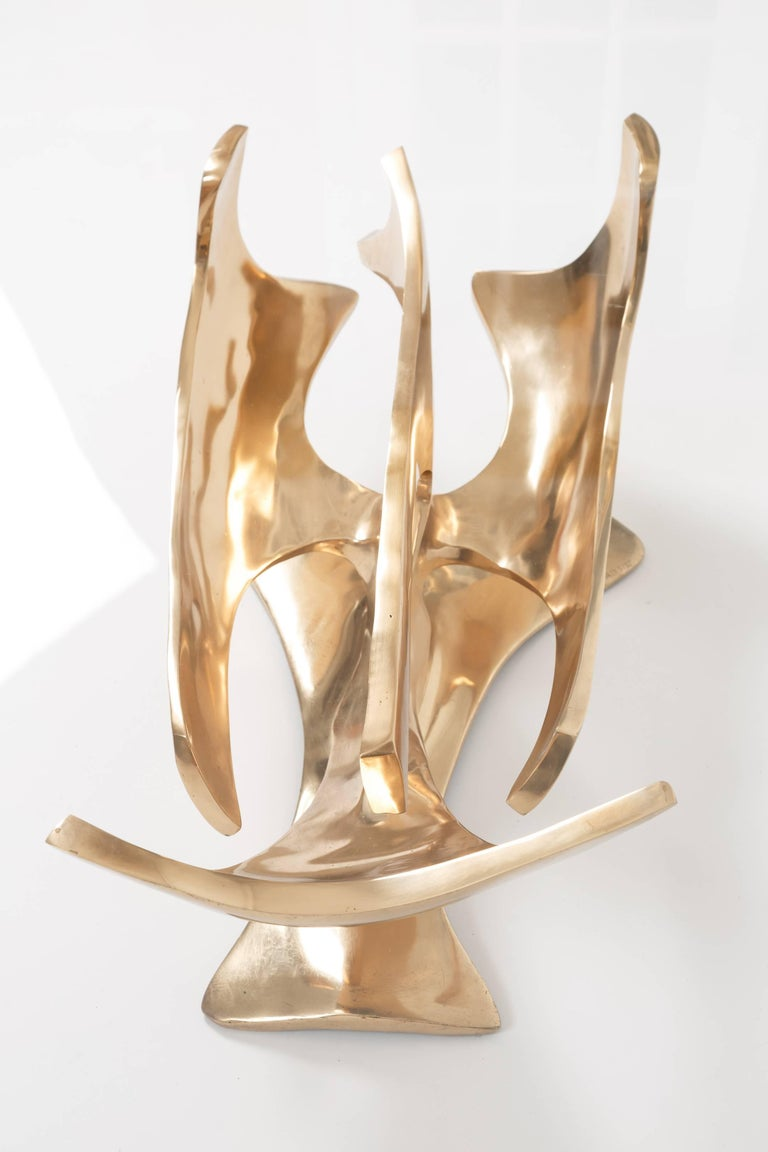 Fred Brouard Sculptural Bronze Coffee Table For Sale 2