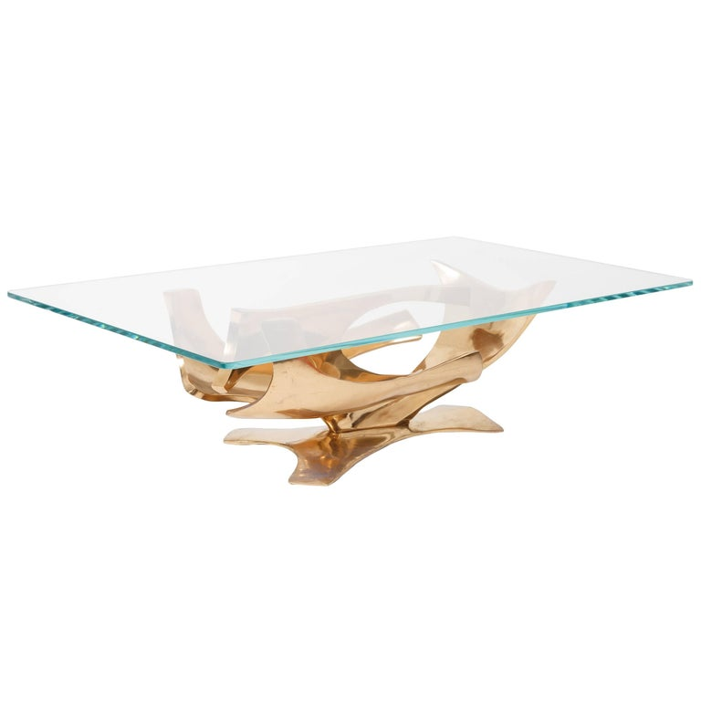 Fred Brouard Sculptural Bronze Coffee Table For Sale