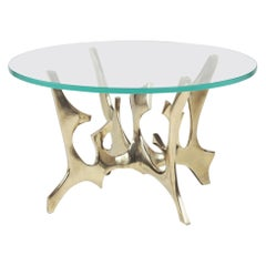 Fred Brouard Sculptural Gilded Brass Coffee Table