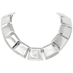 Fred Davis Mexico Sterling Silver Panel Necklace, circa 1940