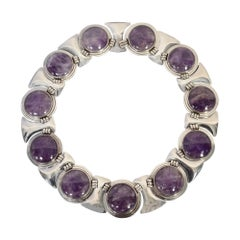 Fred Davis Sterling Silver and Amethyst Necklace