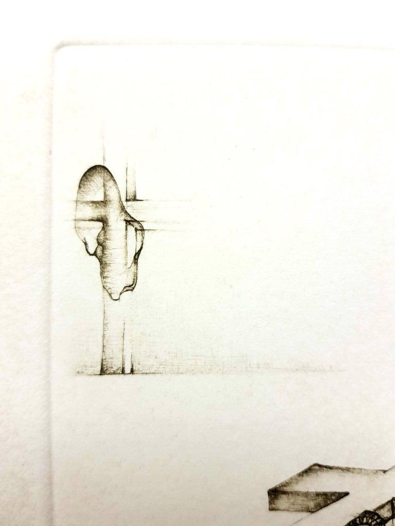 Fred Deux - Grey Surrealism IV - Signed Original Etching For Sale 2