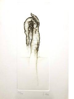 Fred Deux - Grey Surrealism V - Signed Original Etching
