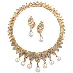 Fred Diamond and Pearl Necklace Suite