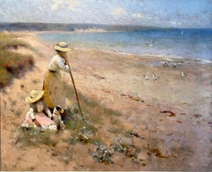 Summer Haze, Early 20th-Century Oil Landscape Painting