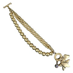 Fred Hayman Beverly Hills Toggle Charm Bracelet