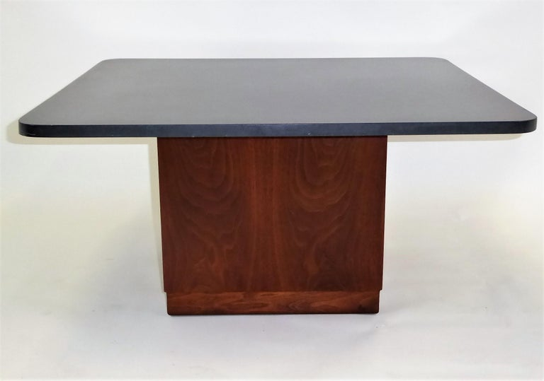 American Mid Century Slate Top Walnut Coffee Table by Fred Kemp For Sale