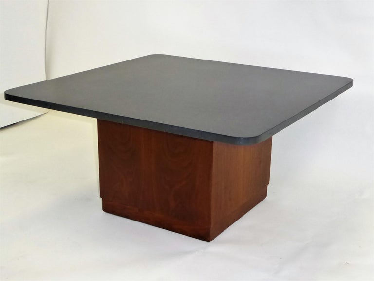 Mid-Century Modern Mid Century Slate Top Walnut Coffee Table by Fred Kemp For Sale