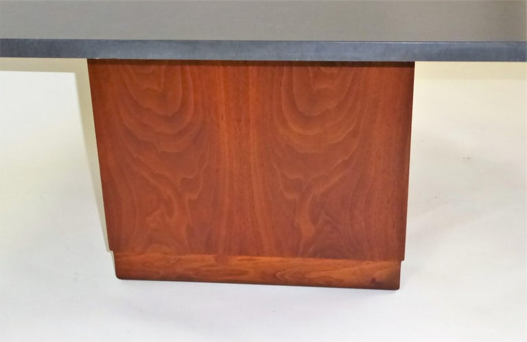 Mid-20th Century Mid Century Slate Top Walnut Coffee Table by Fred Kemp For Sale