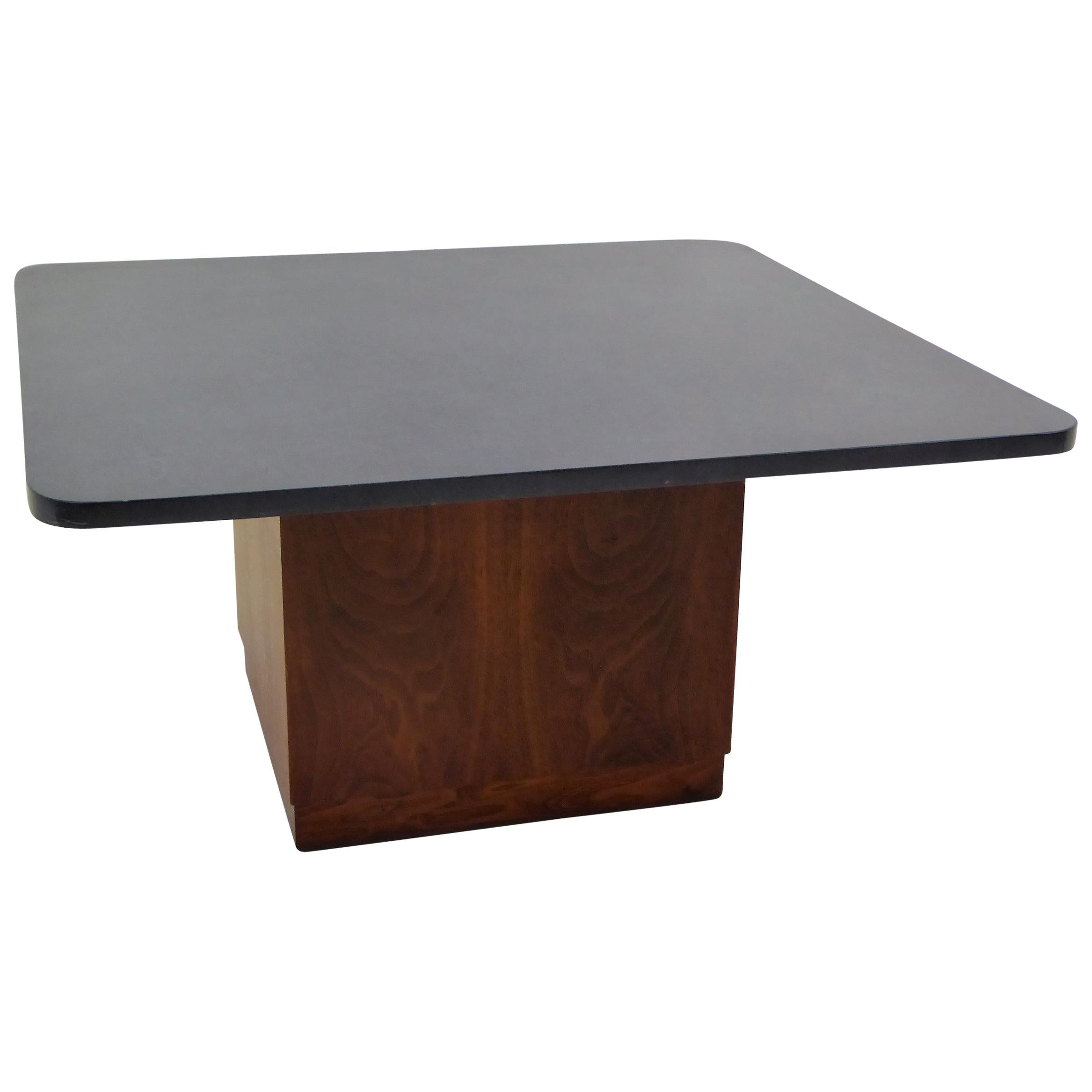 Mid Century Slate Top Walnut Coffee Table by Fred Kemp