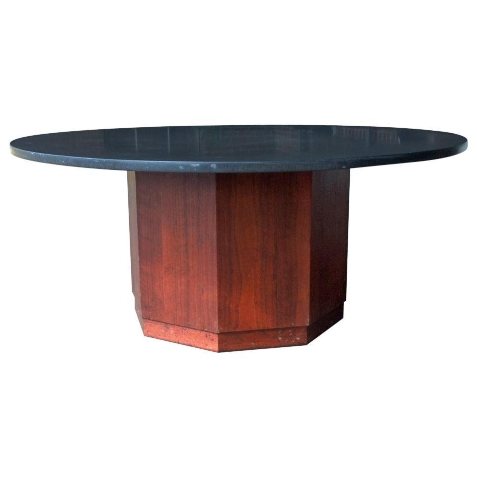 Fred Kemp Walnut and Slate Coffee Table