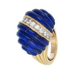 Fred Lapis-Lazuli and Diamonds Ring