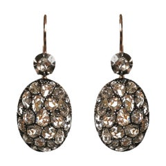 Fred Leighton Rose Cut Diamond Earrings