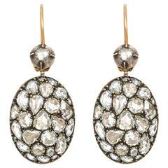 Fred Leighton Rose Cut Diamond Earrings