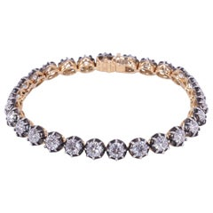 Fred Leighton Round Diamond Collet Line Bracelet Signed Fred Leighton