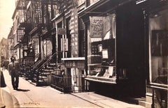 Large Vintage Print Silver Gelatin Signed Photograph Greenwich Village New York