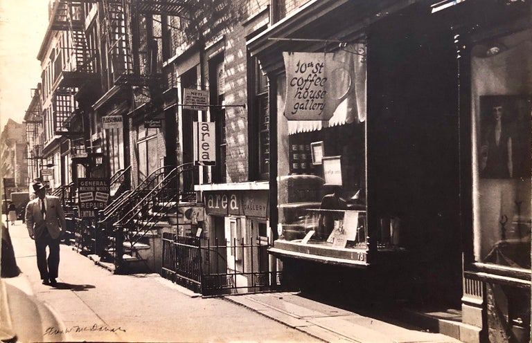 <i>Large Vintage Print Silver Gelatin Signed Photograph Greenwich Village New York</i>, 1960, offered by Lions Gallery