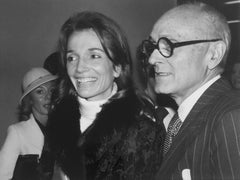 Signed Silver Gelatin Photograph Philip Johnson, Architect, Lee Radziwill, Photo