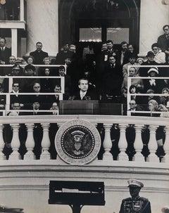 Vintage Print Silver Gelatin Signed Photo President Richard Nixon Innaugural