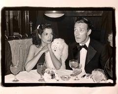 Vintage Print Silver Gelatin Signed Photograph Bianca Jagger, Halston LIz Taylor
