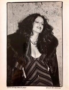 Vintage Print Silver Gelatin Signed Photograph Brazilian Actress Sonia Braga