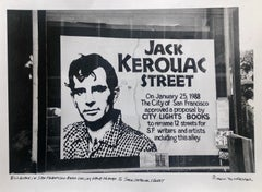 Vintage Print Silver Gelatin Signed Photograph Jack Kerouac Street Sign Photo