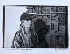 Vintage Print Silver Gelatin Signed Photograph Louise Nevelson Sculpture