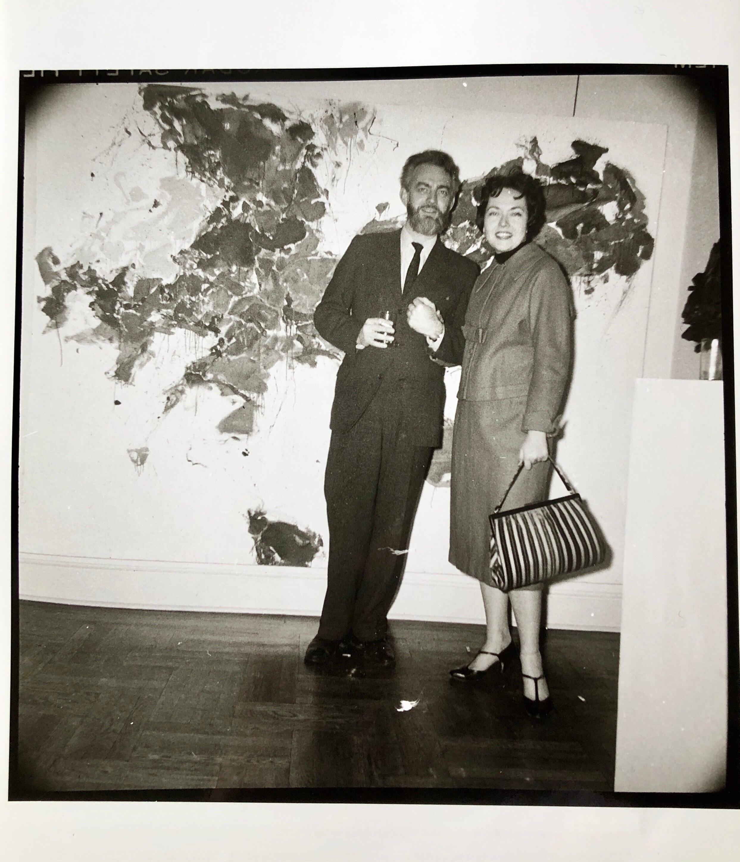 Vintage Print Silver Gelatin Signed Photograph Paul Jenkins, Alice Baber AbEx NY