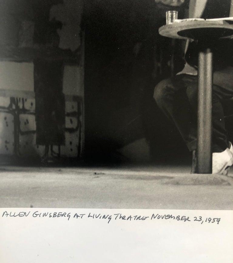 Vintage Print Silver Gelatin Signed Photograph Poet Allen Ginsberg Howl Photo For Sale 2