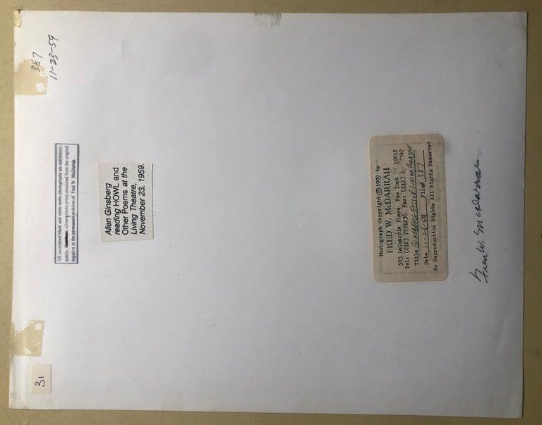 Vintage Print Silver Gelatin Signed Photograph Poet Allen Ginsberg Howl Photo For Sale 3