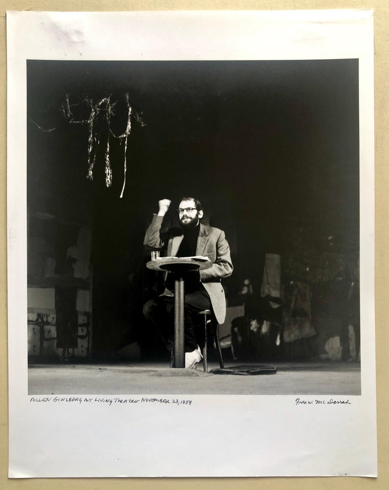 Vintage Print Silver Gelatin Signed Photograph Poet Allen Ginsberg Howl Photo For Sale 6