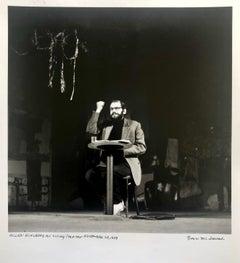 Vintage Print Silver Gelatin Signed Photograph Poet Allen Ginsberg Howl Photo