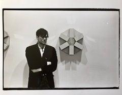 Vintage Print Silver Gelatin Signed Photograph Robert Smithson Land Art Artist