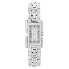 Fred of Paris 18 Karat White Gold Pave Diamond Ladies Watch