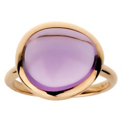 Fred of Paris 7ct Amethyst Cabochon Rose Gold Cocktail Ring