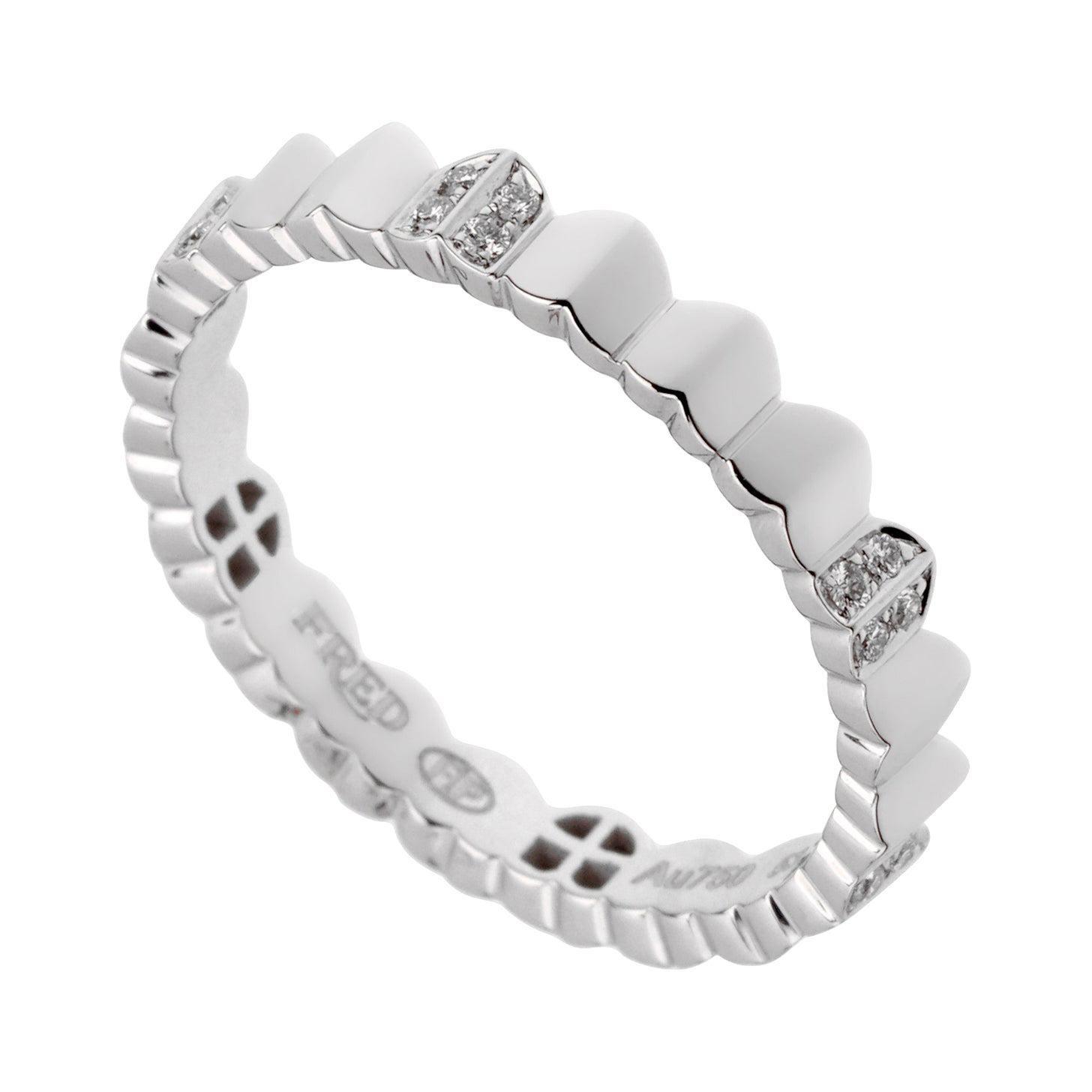 Fred of Paris Arc White Gold Diamond Eternity Ring