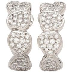 Fred of Paris Diamond and 18 Karat White Gold Earrings