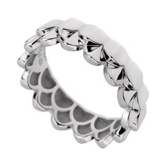 Fred of Paris Double Arc White Gold Band Ring