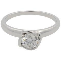 Fred of Paris Fleur Celeste Platinum Diamond Engagement Ring 0.51 Carat