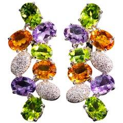 Fred of Paris Gem-Set Cluster Earrings