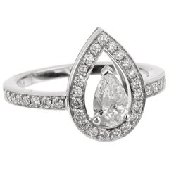 Fred of Paris GIA Certified Lovelight Pear Shaped Diamond Engagement Ring