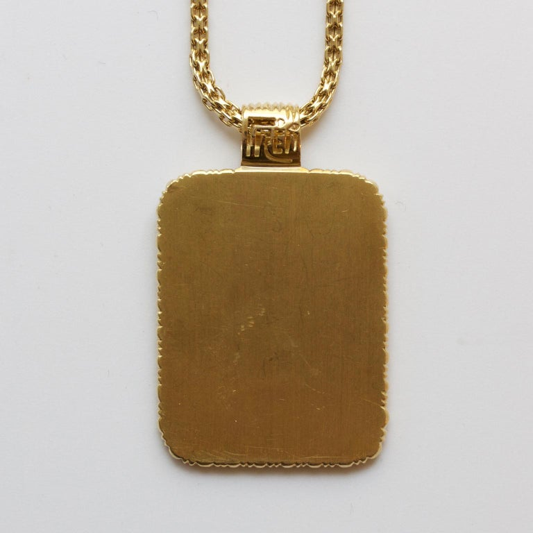Fred of Paris Gold Libra Pendant In Excellent Condition For Sale In Amsterdam, NL